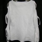 Bluzka biała z rękawami wiązanymi.-0