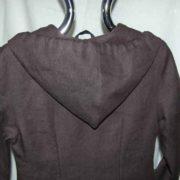 Płaszcz brazowy z kapturem , gruby.-695