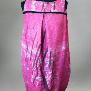 Sukienka różowa bombka.-0