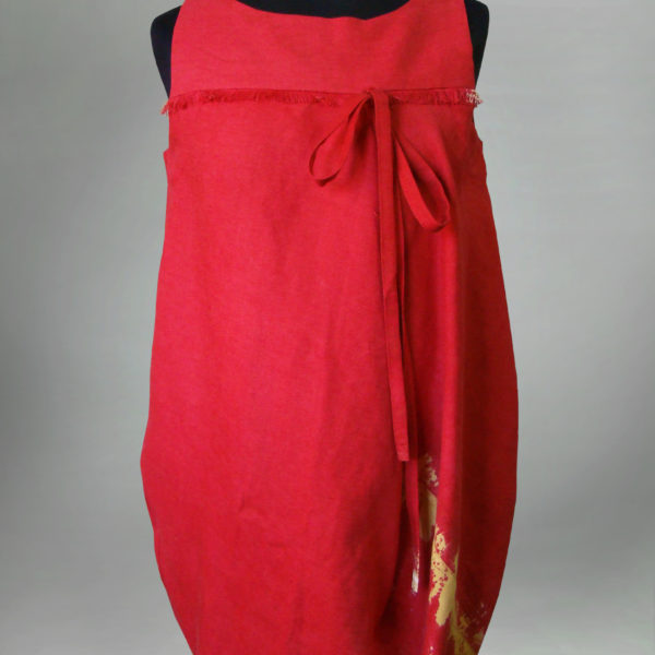 Sukienka czerwona , bombka-0