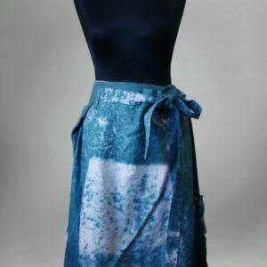 Spodnie niebiesko kremowe, styl wschodni.-0