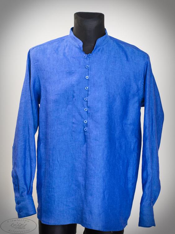 Koszula chabrowa , zapinana na pętelki.-0